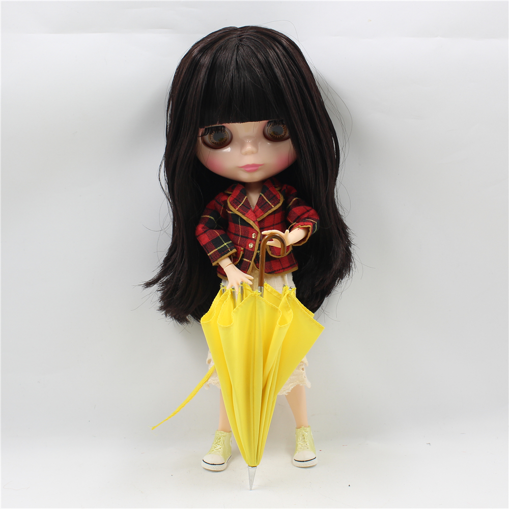 Blyth Doll Nude Joint body Long Straight Black Hair with bangs 4 Colors Big Eyes Suitable DIY makeup fashion dollBlyth Doll Nude Joint body Long Straight Black Hair with bangs 4 Colors Big Eyes Suitable DIY makeup fashion doll