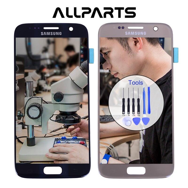 D'origine 5.1 ''Super AMOLED Écran pour SAMSUNG Galaxy S7 LCD Affichage G930 G930F SM-G930 Écran Tactile Digitizer Pièces De Rechange