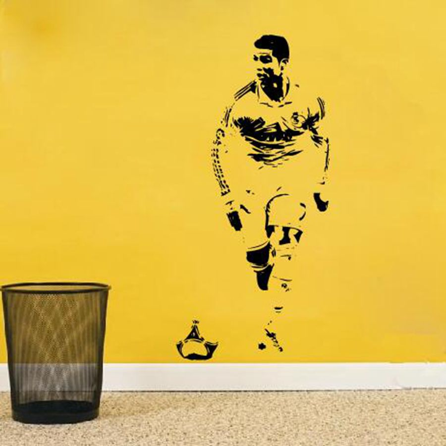 Free shipping CRISTIANO RONALDO Wall Decal Sticker CR7 Footballer ...