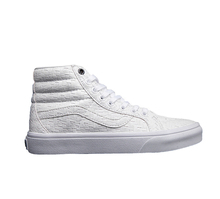 Vans classic sk8 hi unique weave leather high top unisex street canvas shoes for men and women knit skateboarding sneakers