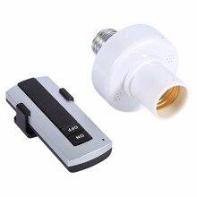 E27 круглые светодиодные лампы Беспроводной дистанционного Управление держатель для лампы осветительного прибора Кепки розетка переключатель конвертер разделитель адаптер переменного тока 220 В пила держатель лампы
