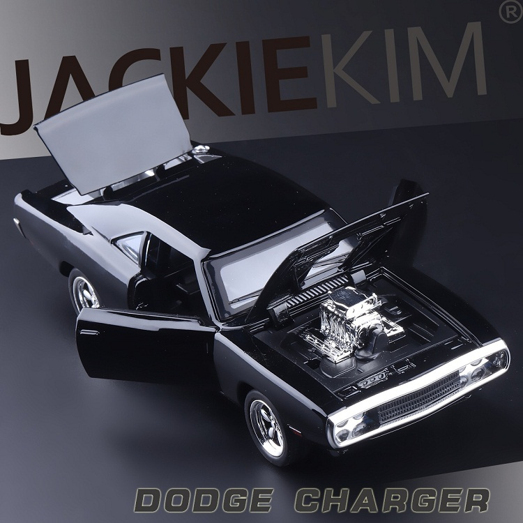 High Simulation Exquisite Collection Toys: MINIAUTO Car Styling Dodge Charger Model 1:32 Alloy Supercar Model Sounds And Light