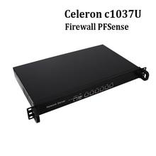 PFSense Barebone PC 1U network firewall PC support ikuai8 c1037u 6*Gigabit LAN