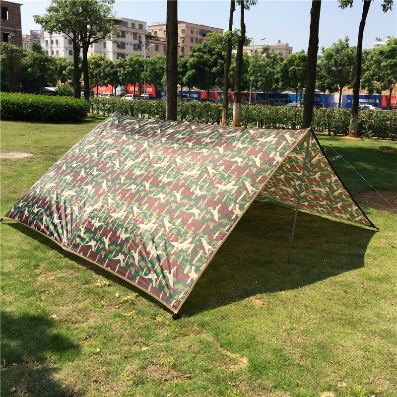 Outdoor camping tent sun shelter Simple Tent camping mat ground mat camouflage tent outdoor rainproof sun shade awing 3M*4M inflatable tent camping shelter camping tent sun shelter