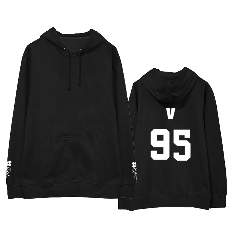 Kpop BTS same paragraph printing men and women hoodies Korea student loose Casual hooded sweatshirts autumn winter Harajuku tops