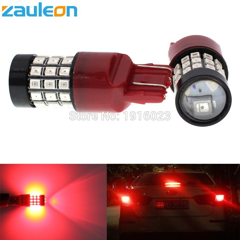 Zauleon 2шт w21/5 Вт 7443 Т20 7440 w21w в красных светодиодов Тормозная стоп свет лампы задний фонарь сзади автомобиля парковка лампы авто замена фары