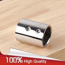 Shower room 304 stainless steel bathroom pipe top rail hanger holder fitting flange 25mm chrome JF1217