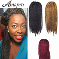 Amapro Hair Products 24 Inch Havana Mambo Synthetic Twist Crochet Braids Hair Senegalese Crochet Braiding Hair Extensions