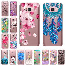 Silicon Phone Case For Samsung Galaxy S8 Plus Case Cover For Samsung S8 plus Phone Shell Transparent Painted Full 360 Protective