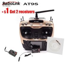 D'origine Radiolink AT9S R9DS Radio Télécommande Système DSSS FHSS 2.4G 10CH Émetteur Récepteur pour RC Hélicoptère/RC BATEAU