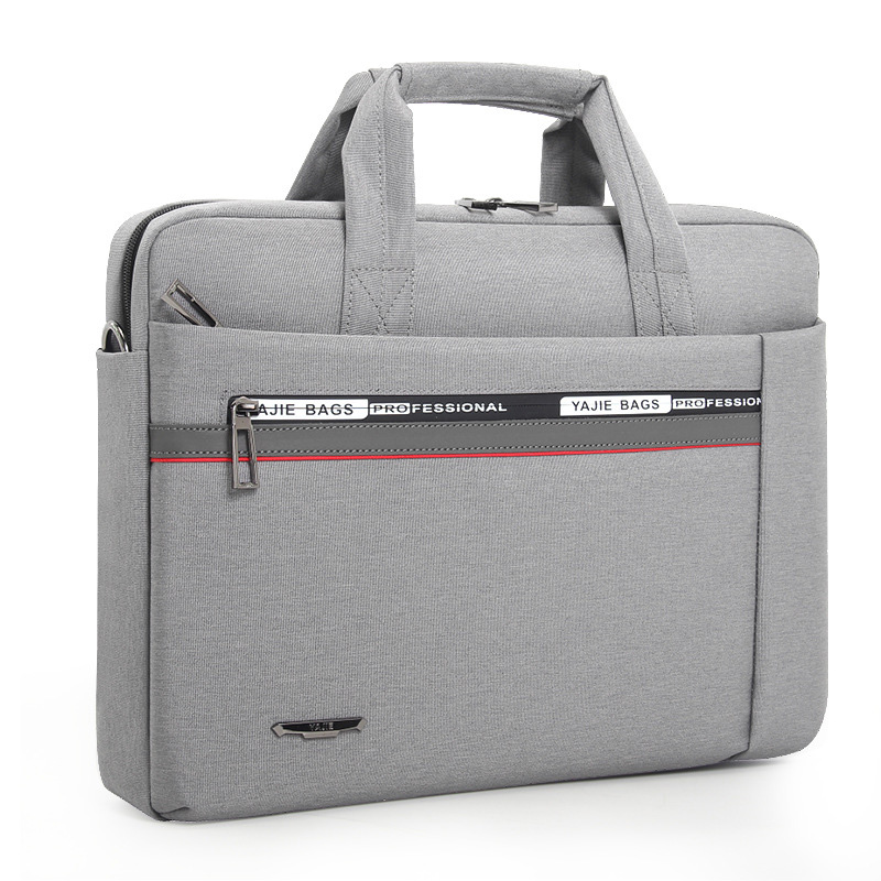 Fashion New Canvas Waterproof Scratch-resistant Laptop Shoulder Bag 13 15inch Notebook Shoulder Carry Case For Anti-fall Handbag