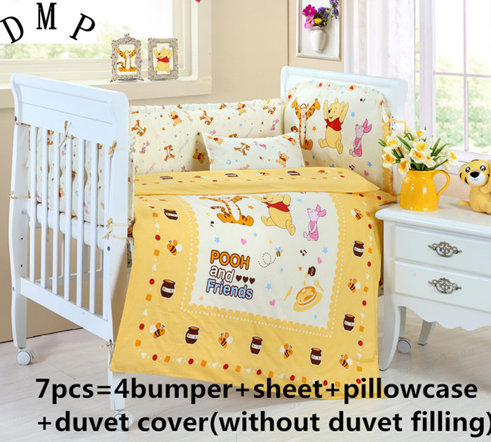 Promotion! 6/7PCS cotton baby bedding set unpick and wash baby bedding kit cot bedding, 120*60/120*70cm discount 6 7pcs 100% cotton baby bedding set unpick and wash the crib piece set baby cot set 120 60 120 70cm