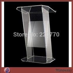 Multimedia Onderwijs Acryl Lessenaar Bruin podium/glas lessenaar plexiglas