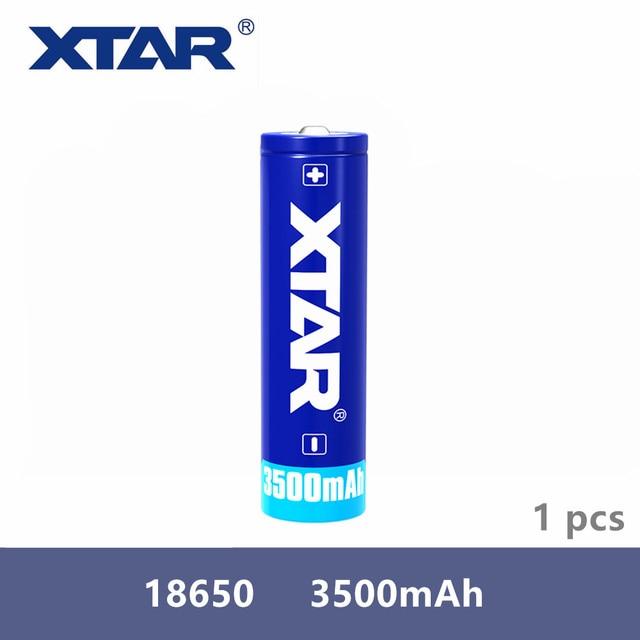 Оригинальная Аккумуляторная Батарея Xtar 18650 3500 мАч 3,7 в, предназначена для фонариков, портативных источников питания и т. Д., 1 шт.