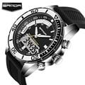 Горячие Продажи Мужчины Часы Brand SANDA Спорт Дайвинг СВЕТОДИОДНЫЙ Дисплей Наручные Часы Мода Повседневная Часы Мужчины Кварцевые Часы Relogios Montre Homme
