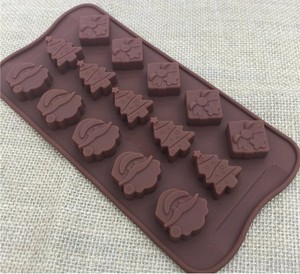 Image 4 - Christmas decorations Christmas tree chocolate Party DIY fondant baking cooking cake decorating tools silicone molds  20%off