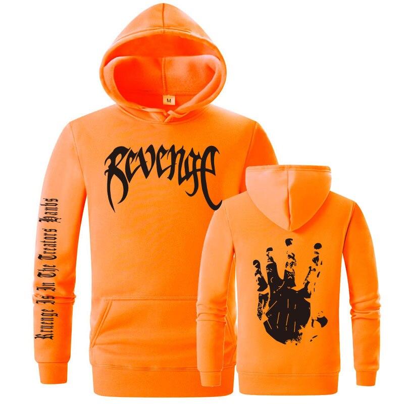 Revenge kills men 39 s hooded sweatshirt orange black handsome plus size XXL in Hoodies amp Sweatshirts from Men 39 s Clothing