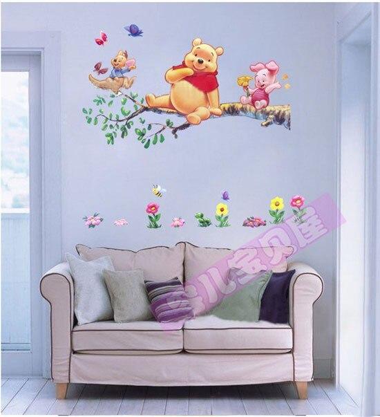 Lindo oso PVC pegatinas de pared para niños papel pintado de ...