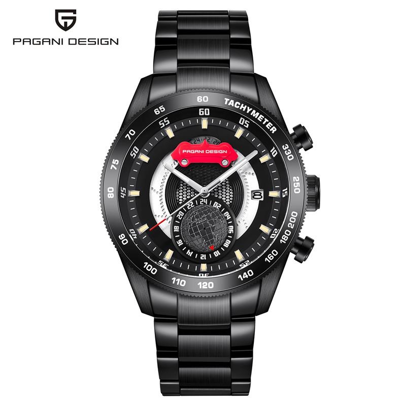 PAGANI DESIGN Fashion Men Quartz Watches Casual Stainless Steel Watch Man Auto Date Wristwatches relogio masculino PD-2767 стоимость