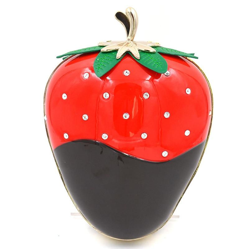2016 Promotion Minaudiere Denim soirée sacs usine directe en gros diamant alliage fraise dîner sac Collocation paquet