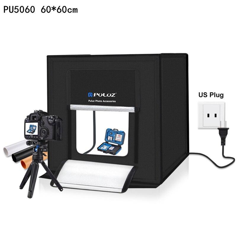 PULUZ 60*60 см 40*40 см Световой короб Мини светодиодный Фотостудия софтбокс освещение студия стрельба палатка фотографии коробки складной софтбо...