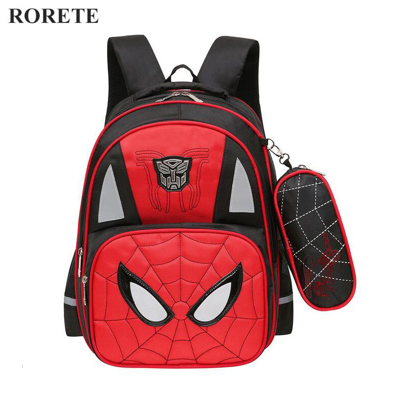 Spiderman Orthopedic schoolbags Waterproof Children school backpack for kid reflective shoulder bags mochilas escolares infantis