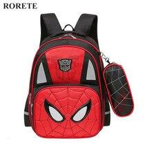 Spiderman Orthopädische schultaschen Wasserdichte Kinder schulrucksack für kind reflektierende umhängetaschen mochilas escolares infantis