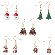 Women Statement Earrings Santa Claus Lovely Christmas Dress Jewelry Dangle Earring Women Tassel earrings Simple Jewelry Gifts merry christmas santa claus jewelry sets lovely enamel father christmas dangle earrings ring necklace bracelets jewelry set gift