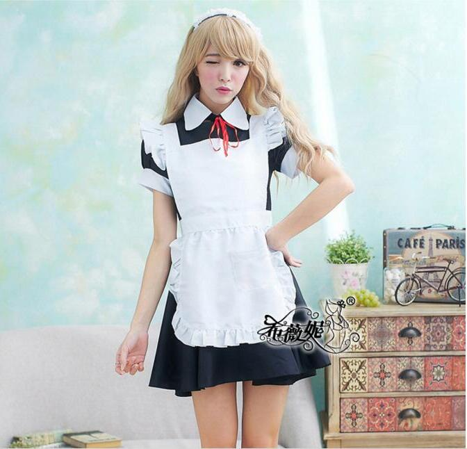 Sweet Maid Costume Sweet Gothic <font><b>Lolita</b></font> Dress Anime <font><b>Cosplay</b></font> <font><b>Sexy</b></font> Fashion Uniform Halloween Costumes For Women Dress image