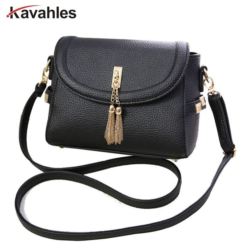 2018 hot sale women bag women messenger bags pu leather handbags shoulder bags blosas tassel bags bolsos mujer purses F40-872