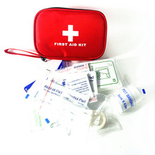 41pcs/pack Safe Hiking Camping Car Mini First Aid Kit Medical Emergency Pouch Kit Outdoor Wilderness Survival Bag Treatment Pack