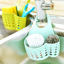Adjustable Hanging Kitchen Sink Drain Basket Tools Creative Racks Faucet Storage Baskets Sponge Soap Gadgets