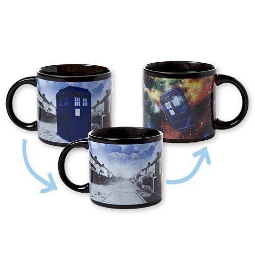 doctor dr who heat reveal mug color change coffee cup sensitive ceramic chameleon magical mug. Black Bedroom Furniture Sets. Home Design Ideas
