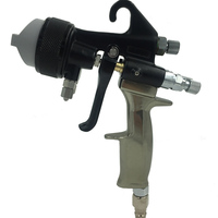 SAT1205 silver mirror chrome plating machine hvlp spray gun on car wheel chrome plating paint double nozzle