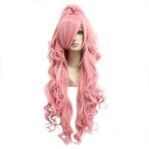 MCOSER/бесплатная доставка, синтетический розовый карнавальный костюм, длина 90 см + хвостик, 100% высокотемпературное волокно 208A