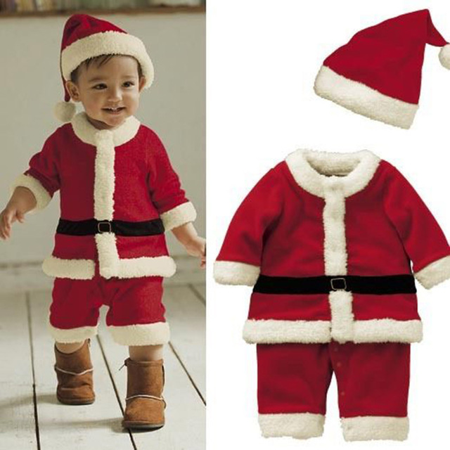 New Baby Boys Christmas Costume Set Kids Dresses for Girls Children Party  Clothing Xmas Suit 1 2 3 4 5 6 7 8 Years Girls Dress d9edbc1355