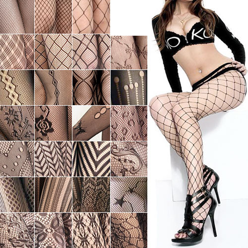 New Hot Pantyhose Female Sexy Fishnet Jacquard Stockings Patterned Tights Pantyhose Tights Women W1