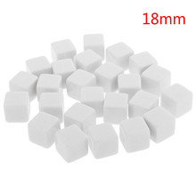 10Pcs/set 2018 Hot Glossy Dice Teaching Blank Dice Light Plate Can Be Screen Printing DIY Dice Square Angle 12mm 14mm 18mm(China)