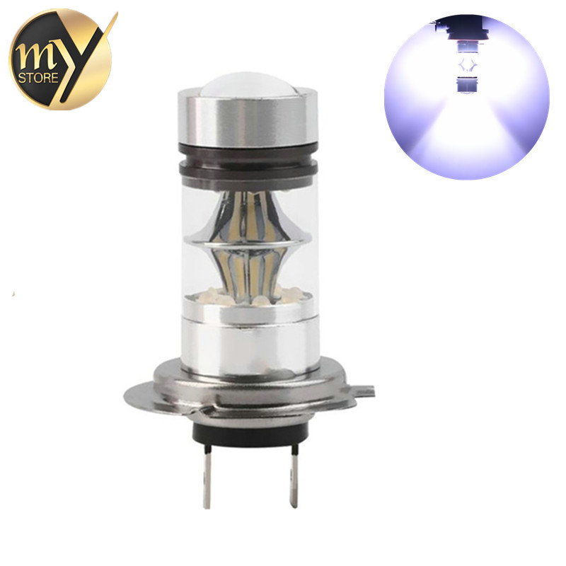 12-24V 100W H1 H4 H7 H8 H11 9005 9006 3157 7443 1156 BA15S 1157 BAY15D Car LED Bulb 6000K Cree Chip 20SMD Automobiles Fog Lights