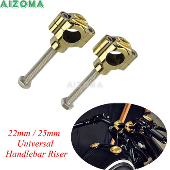 Brass Motorcycle Risers Rough Craft 1'' Handlebar Mount Clamp Risers For Triumph Harley Dyna Fatbob Cafe Racer 22/25mm Bar фото