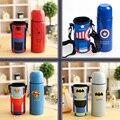 O Envio gratuito de 4 Estilo Do Copo Vazio Do Sul Coréia Stationary Vingadores Capitão América/Batman/Spiderman/Superman Copo para Os Alunos