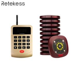 T118 999 Channel Restaurant Pager Wireless Paging Queuing Calling System 1 Keypad Transmitter+10 pagers customer service