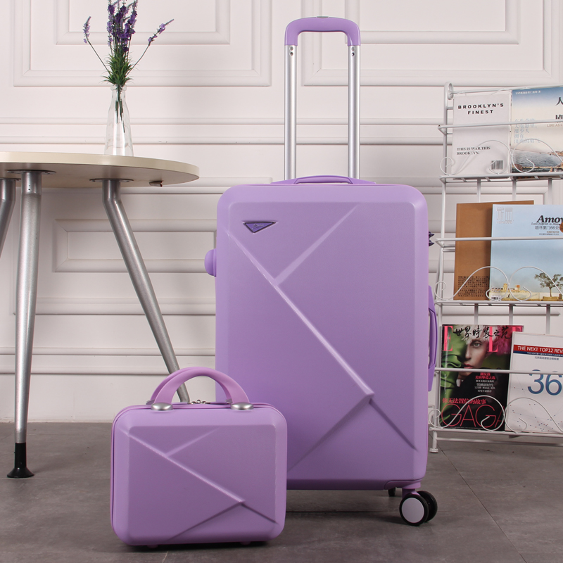 HOT!Fashion 2026 inches girl trolley case ABS students lovely Travel waterproof luggage rolling suitcase extension Boarding box 2024 inches combination lock trolley case abs students women travel frosted luggage rolling suitcase men business boarding box