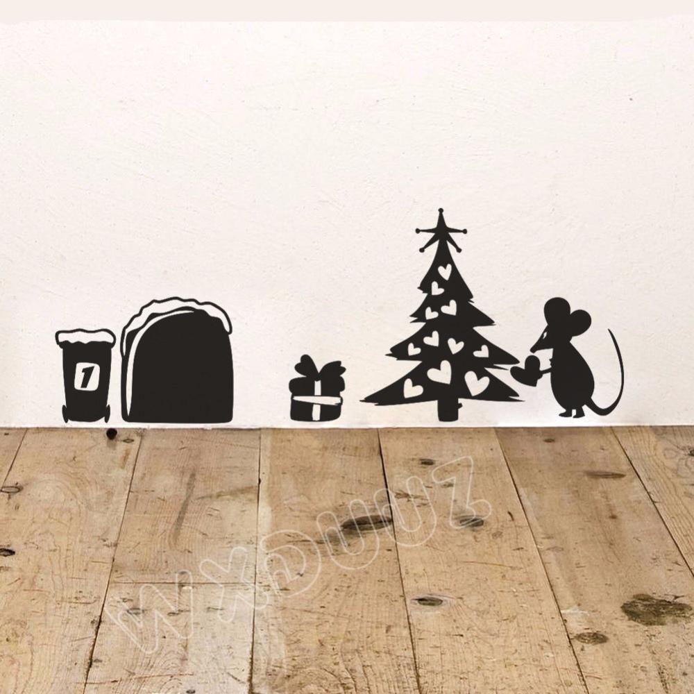 WXDUUZ Cute Mouse Hole Vinyl home decor Wall sticker wall decals Art mural Home Decor Nursery Kids Room Wall Decor P13