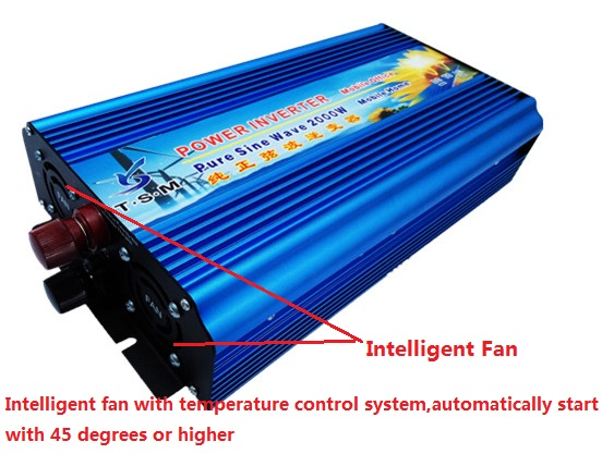 free shipping 2000W Peak 4000w power inverter Off Grid Pure Sine Wave dc12v to ac220v 50hz