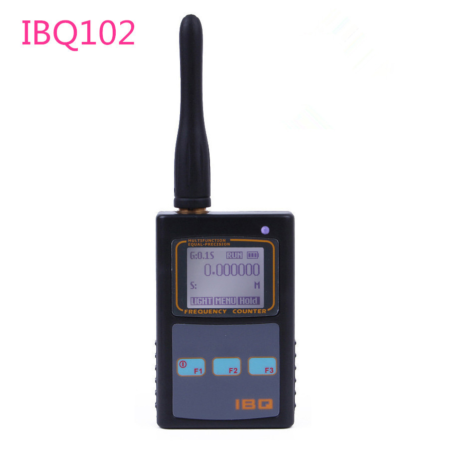 IBQ102 Handheld Digital Frequency Counter Meter Wide Range 10Hz-2.6GHz for Baofeng Yaesu Kenwood Radio Portable Frequency Meter
