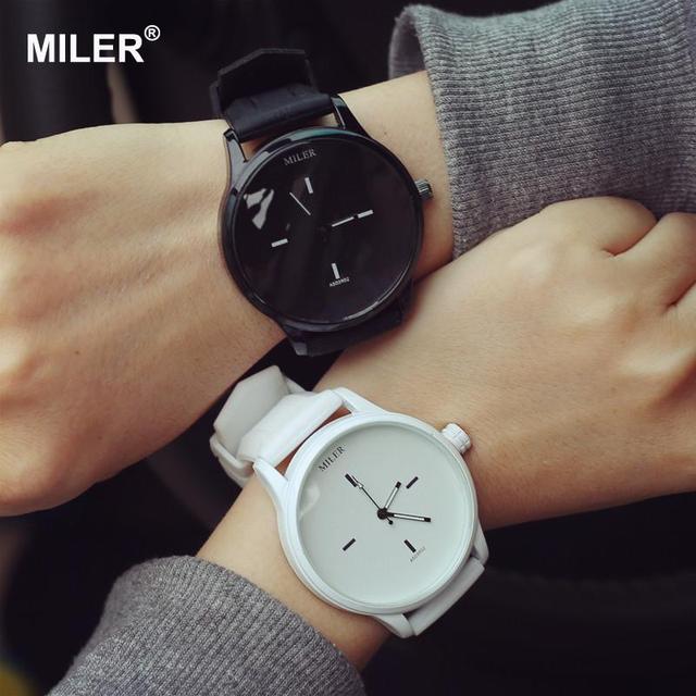 a26186c985a MILER Marca Original Macio Pulseira de Silicone Geléia Relógio de Quartzo  Amantes de relógios de Pulso