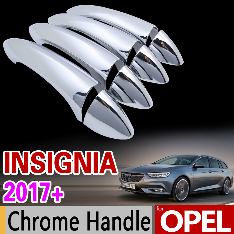 for Opel Insignia B 2017 2018 Grand Sport Chrome Door Handle Cover Trim Set for Buick Regal Vauxhall Car Accessories Car Styling k04 53049880059 4814279 860224 860262 12652494 4811580 turbo for buick regal for opel gt insignia hhr l850 ecotec 2 0l gasoline