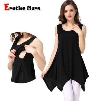 العاطفة الامهات الصيف ملابس حمل التمريض سترة التمريض الأعلى للرضاعة الطبيعية تانك القمم للنساء الحوامل الأمومة قمم M-XXL