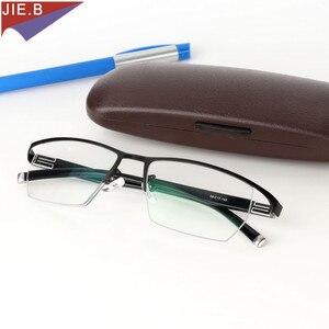 Image 4 - 2019 erkekler tarzı titanyum alaşımlı kaliteli fotokromik presbiyopi erkek gözlük moda kare yarım jant klasik okuma gözlüğü için